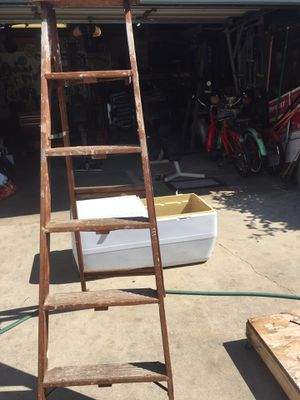 Large cooler and wood ladder, for the outrages price of free🤘 for Sale in Lakewood, CA