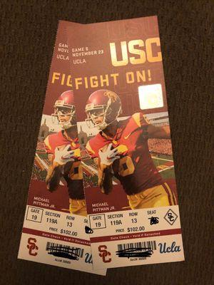 USC Trojans v ucla 11/23/19 (2tix) $280 for Sale in Huntington Beach, CA