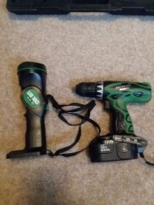 Hitachi drill and light combo, 18v for Sale in Cheyenne, WY