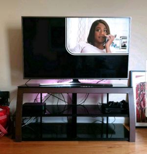 Glass & metal TV stand for Sale in Washington, DC