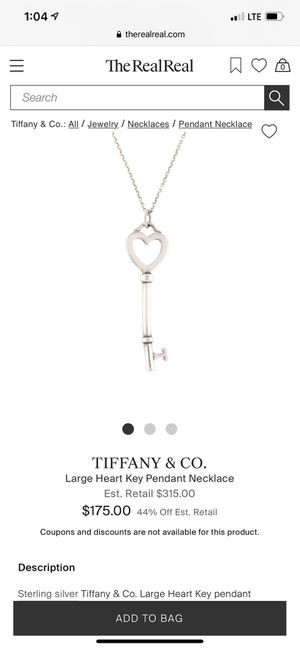 TIFFANY & Co Pendant .925 silver for Sale in Spring, TX