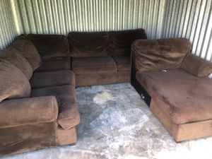 Oversized light brown cloth sectional (U-shaped) for Sale in Brandon, FL