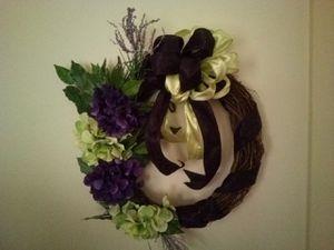 """16"""" purple and green hydrangea wreath for Sale in Roanoke, VA"""