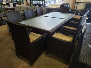New 9pc outdoor patio furniture set tax included delivery available for Sale in Hayward, CA