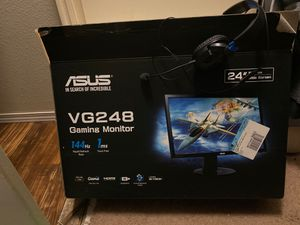 Asus 1ms monitor 24in wide screen for Sale in Houston, TX