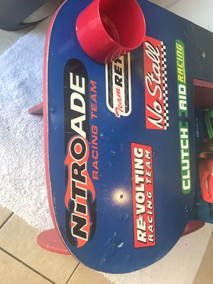 Kids Cars desk with chair and storage bin for Sale in Brockton, MA