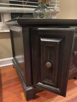 Bernhardt distressed black coffee side Table for Sale in Troy, MI
