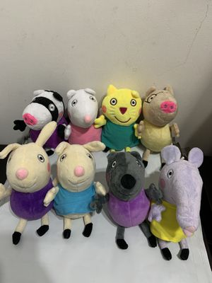 Peppa Pig Friends Plush Set Total 8 Plush High Quality for Sale in El Monte, CA