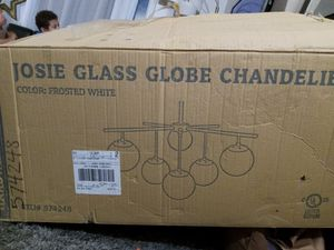 Glass globe chandelier for Sale in GRANDVIEW, OH