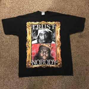 2pac Tupac biggie smalls notorious 2xl bootleg 90s vintage shirt for Sale in Stockton, CA