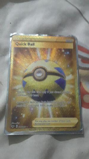 Pokemoncard secret rare quick ball for Sale in San Jose, CA