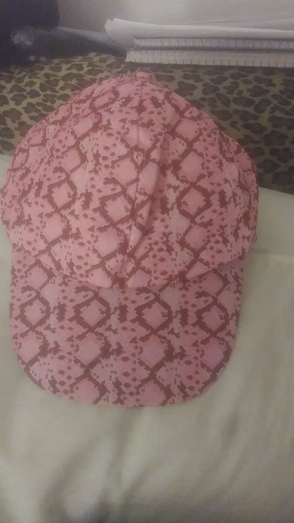 Pink Design Velcro Snapback Hat