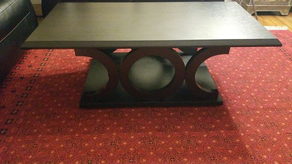 Dark brown coffee table