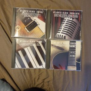Atlantic Blues 4 CD Set That Includes Guitar, Chicago, Vocalists,and Piano for Sale in Cleveland, OH