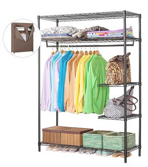 LANGRIA Heavy Duty Wire Shelving Garment Rack Clothes Rack for Sale in Westampton, NJ