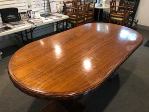 Antique dining table or conference table. hand carved detail for Sale in St. Louis, MO