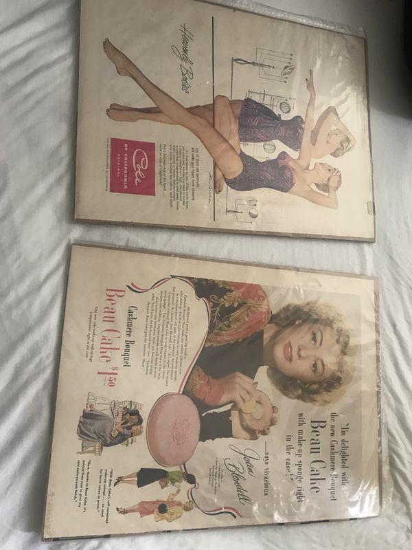 Vintage ad pictures are super rare 1952/1947
