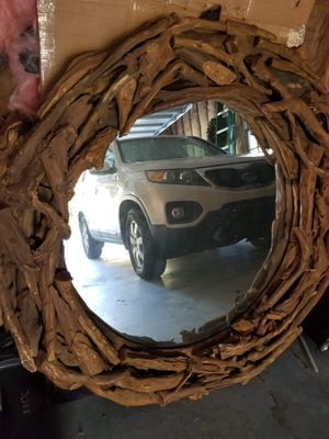 5ft diameter wood wall mirror for Sale in Kennesaw, GA