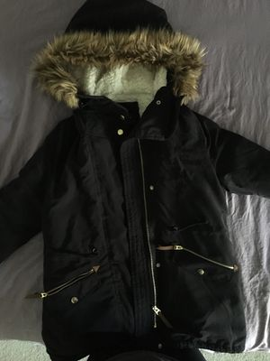 Black Parka Jacket Size Small for Sale in Placentia, CA