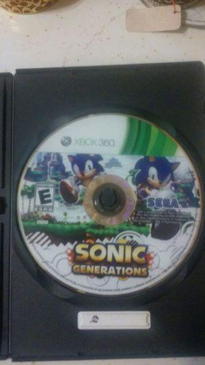 XBOX 360 Sonic Generations for Sale in Newark, NJ