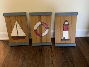 3 wooden sailboat wall hanging for Sale in Hendersonville, TN