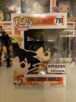 Goku Eating Noodles Amazon Exclusive Funko Pop for Sale in Houston, TX