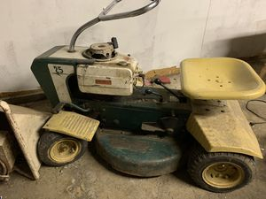 1960s Springfield riding lawn mower with sears compost mill for Sale in Dearborn Heights, MI