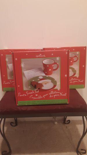 Hallmark Santa Snack Set for Sale in Manassas Park, VA