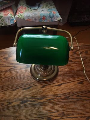 Vintage reading desk or table lamp green Esmeralda $15 for Sale in Pico Rivera, CA