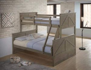 TWIN OVER FULL BUNK BED WITH OUT MATTRESS for Sale in Phoenix, AZ
