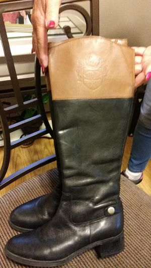 Women size 7 leather boots by Etienne Aigner for Sale in Lynn, MA