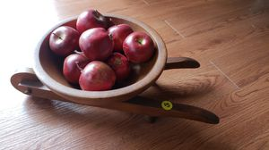 Wooden wheelbarrow with apples for Sale in Farmville, VA