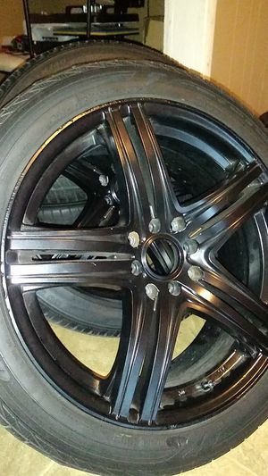 17 rims 4 lug universal black for Sale in Lancaster, PA