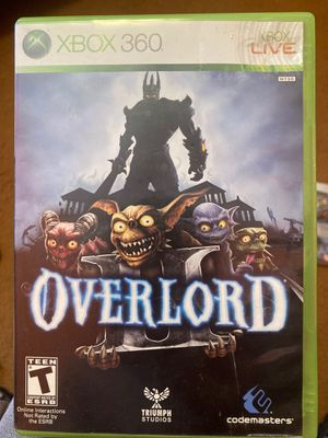 Xbox 360 - Overlord for Sale in Guadalupe, CA
