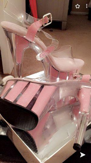 Pleaser size 7 1/2 pink dancer heels for Sale in Merritt Island, FL