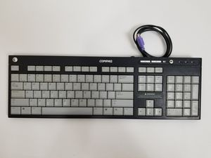 Compaq Genuine Slim PS/2 5137 Multimedia Computer Keyboard Corded QWERTY for Sale in West Palm Beach, FL