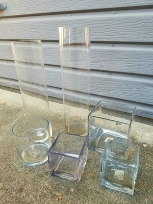 Lot of 6 Glass Candle Holder Center Piece Displays for Sale in Los Angeles, CA