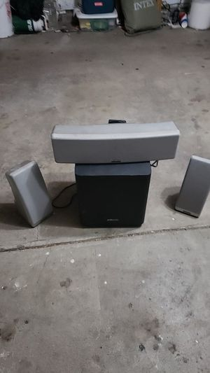 Price drop!! Surround sound speakers with wireless subwoofer for Sale in Holladay, UT