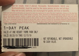 Disneyland Ticket. Needs to be used by 12/15/19 for Sale in Bellflower, CA