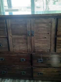 Extra large Solid Wood Dresser And Matching Nightstand for Sale in San Diego,  CA