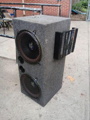 Legacy 12 inch speaker box n amplifier for sale for Sale in Detroit, MI