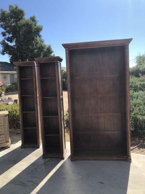 Bookshelves 3 piece for Sale in Hesperia, CA