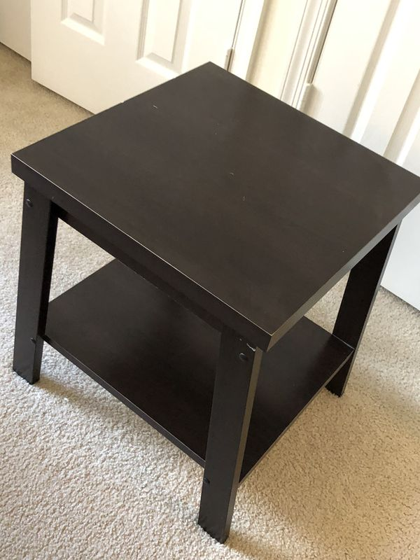 Mainstays Logan Side Table, Espresso Finish