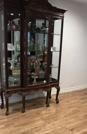 Beautiful Antique Mahogany Curio Cabinet $2,800 OBO for Sale in Los Angeles, CA