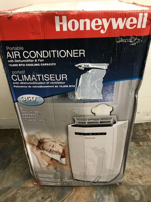 Honeywell 10,000 BTU, 115-Volt Portable Air Conditioner with Dehumidifier and Remote Control in White for Sale in Los Angeles, CA