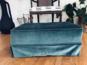 Funky Vintage Low Profile Corduroy Ottoman / Foot Stool for Sale in Lemon Grove, CA