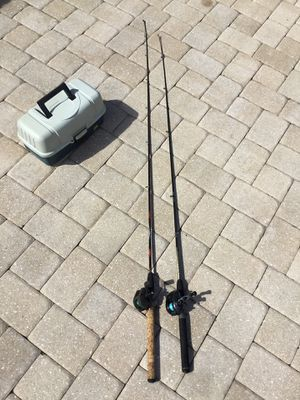 Bait casting combos and tackle box fishing gear C12-2 for Sale in PT CHARLOTTE, FL