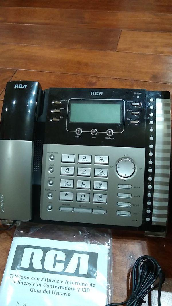 RCA Visys 25425RE1 4-line expandable business speakerphone - Excellent Condition