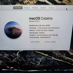 MacBook Pro 2016 15inch Screen Touch Bar for Sale in Piscataway, NJ