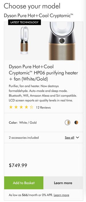 Dyson Air Purifier + Heat & Cool Fan for Sale in Union City, CA
